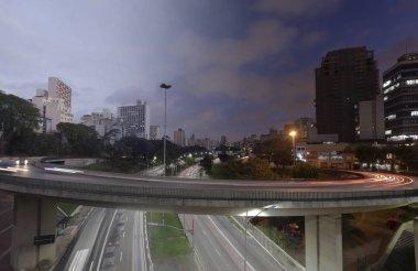 Sao Paulo Traffic Sunset Twilight