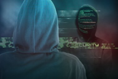 A skilled computer expert protects your computer from hackers cyber-attacks