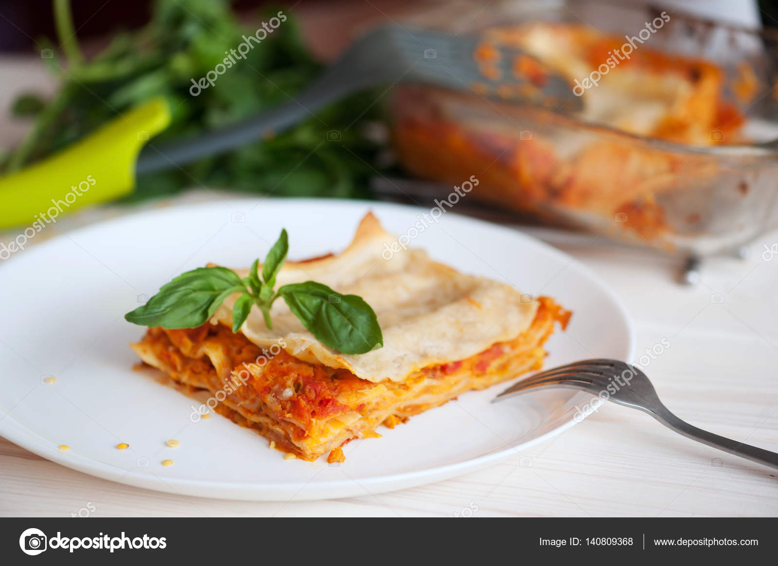 Healthy Vegetarian Lasagna Fresh Italian Recipe With Basil