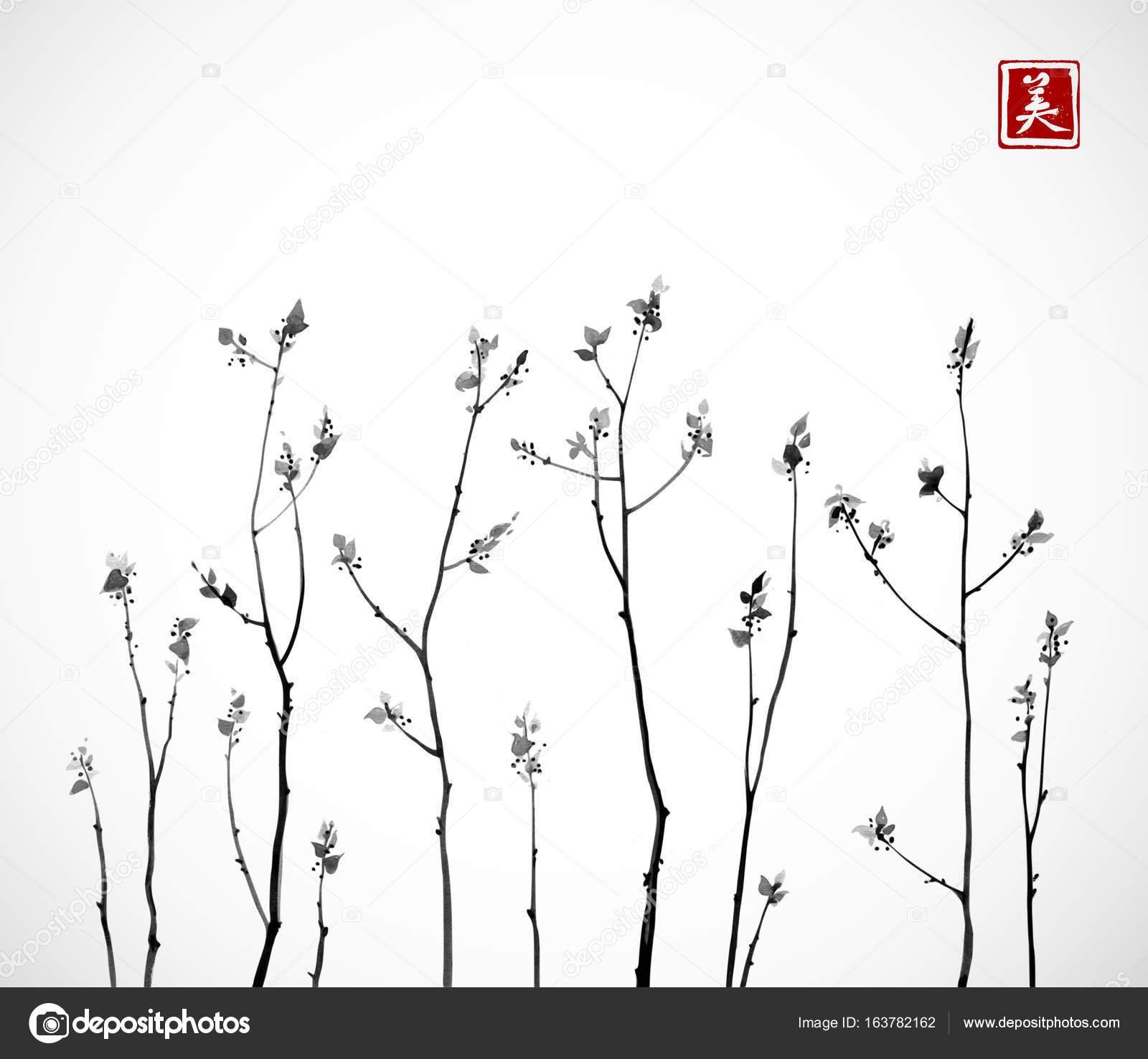 Taze Yaprakları Ile Ağaç Dalları Stok Vektör Elinacious 163782162
