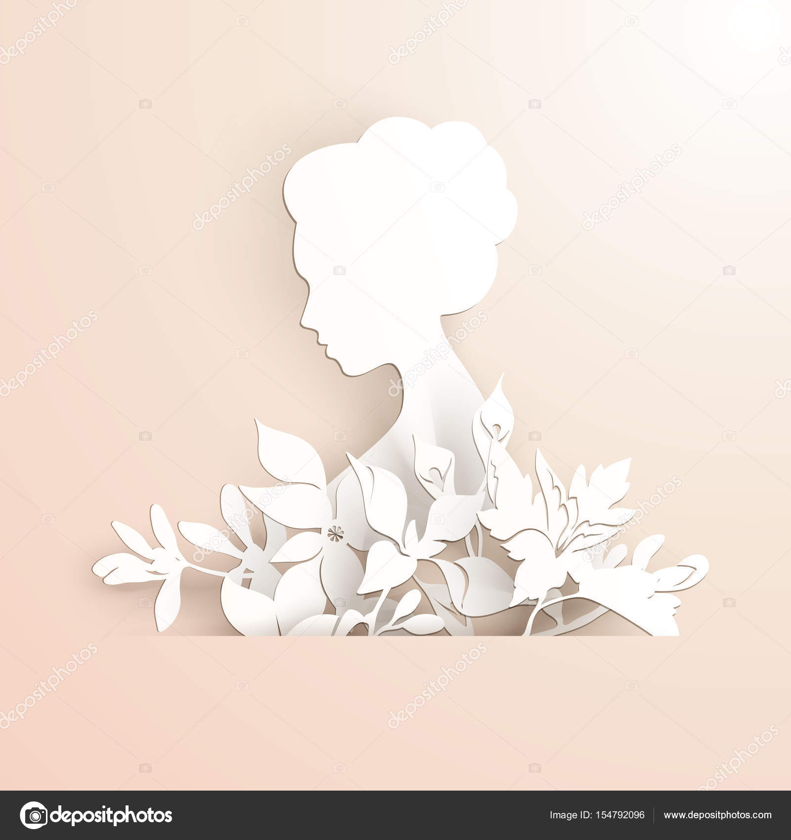 Royalty free stock illustration of lady face template glyph icon.