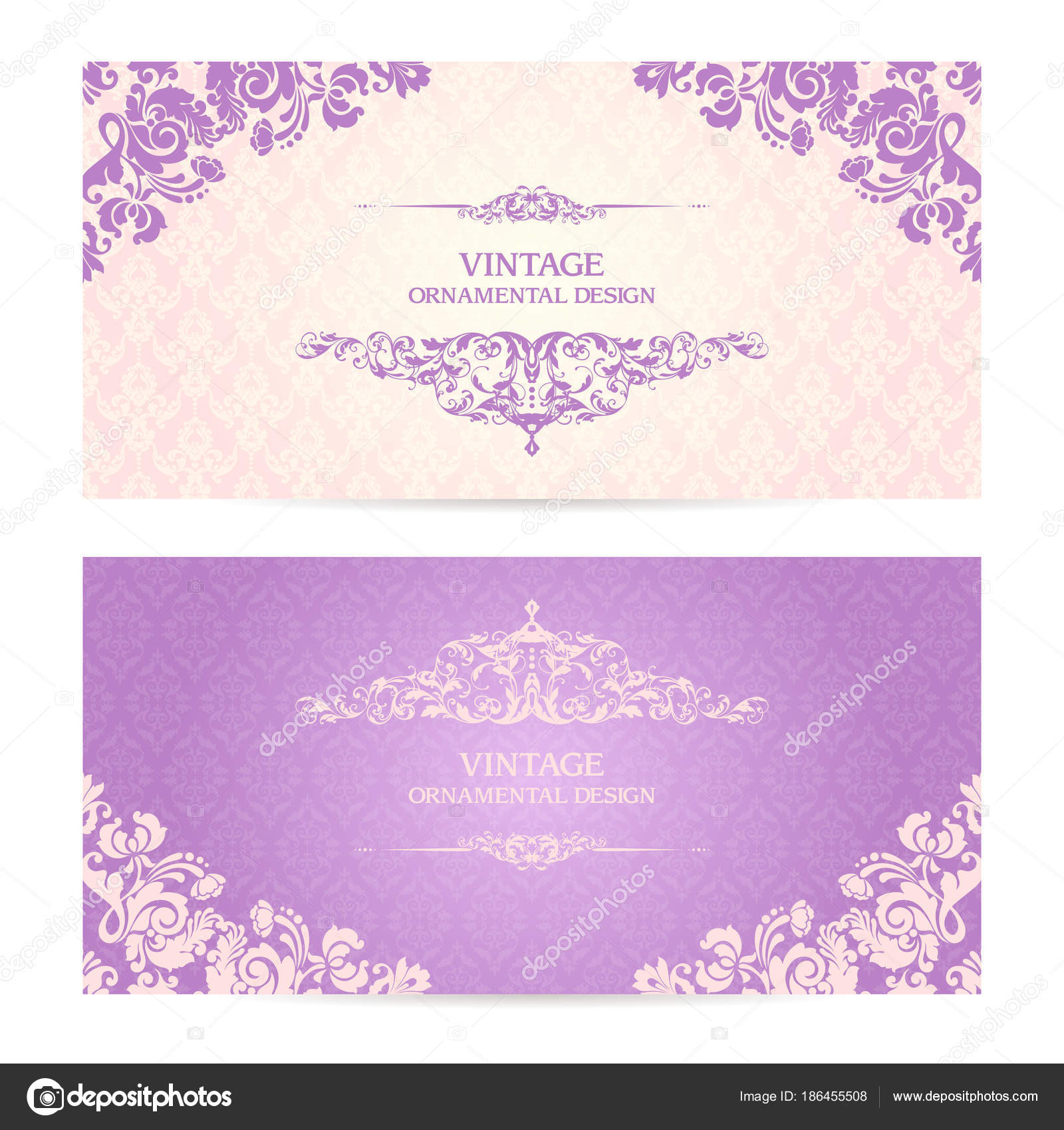 Vintage set of template ornamental borders and patterned background vintage set of template ornamental borders and patterned background elegant lace wedding invitation design stopboris Gallery