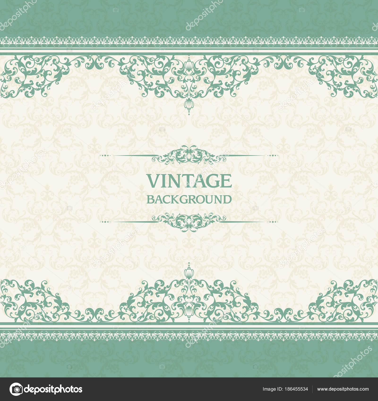 vintage template with pattern and ornate borders ornamental lace