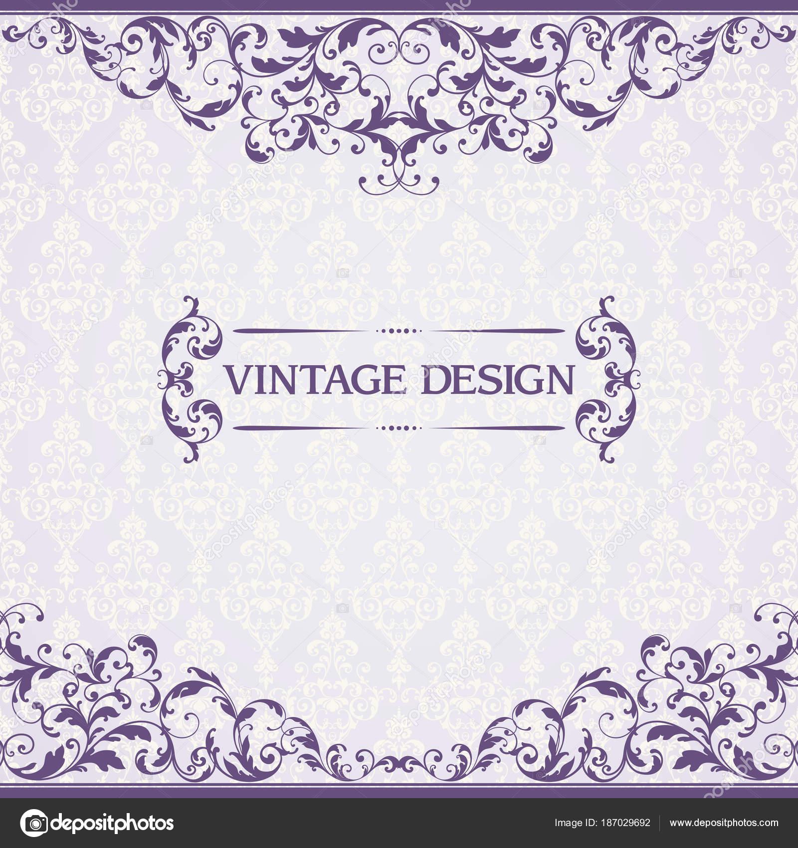 Vintage Schablone mit Muster und reich verzierten Rahmen ...