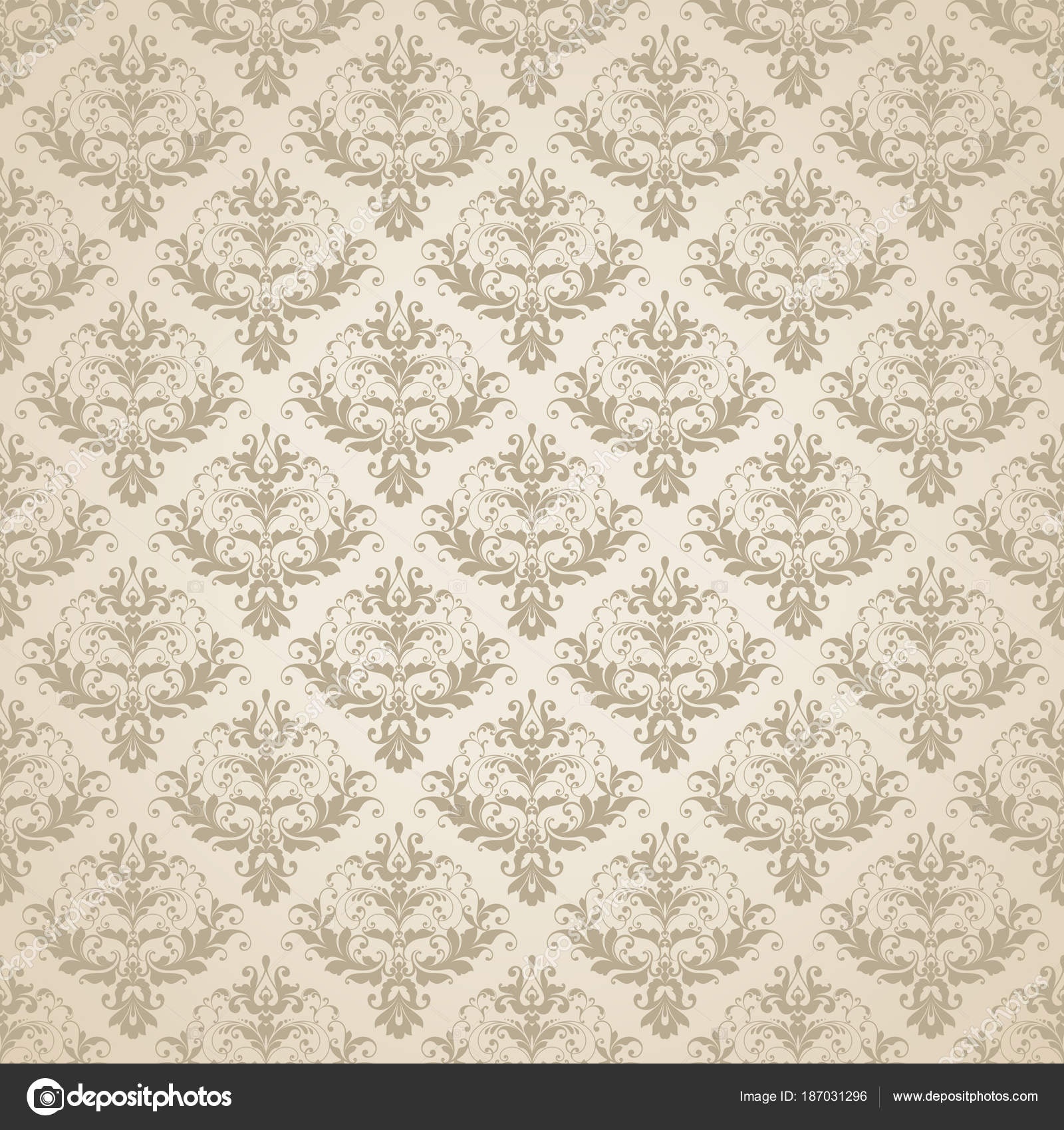 Vector Beige Wedding Background Seamless Abstract Pattern