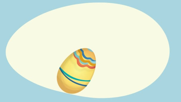 Happy Easter Holiday Card with Eggs