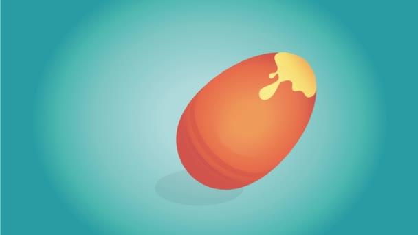 Húsvéti videóinak transzparens színes tojás