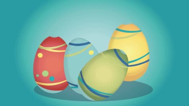 Húsvéti videóinak transzparens és színes tojásokat