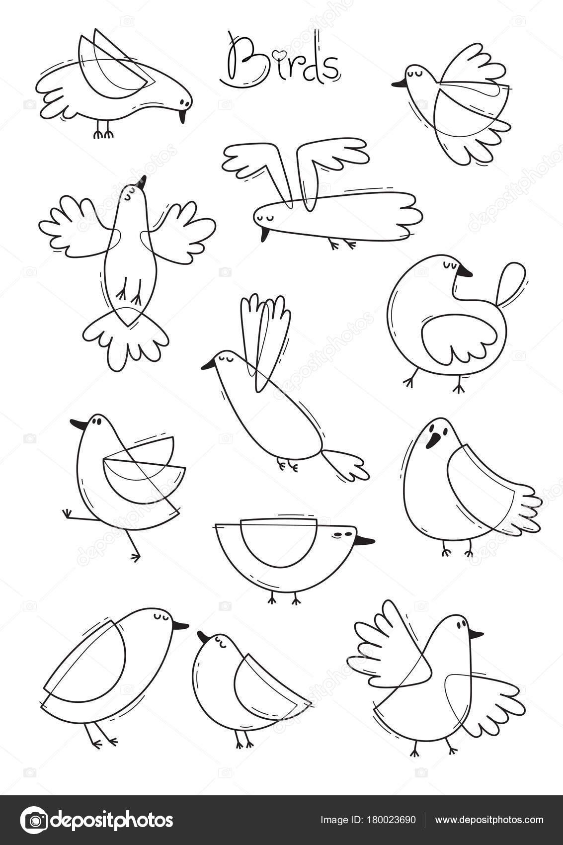 Encuentra gran variedad de aves abstractas. Diseño de línea simple ...