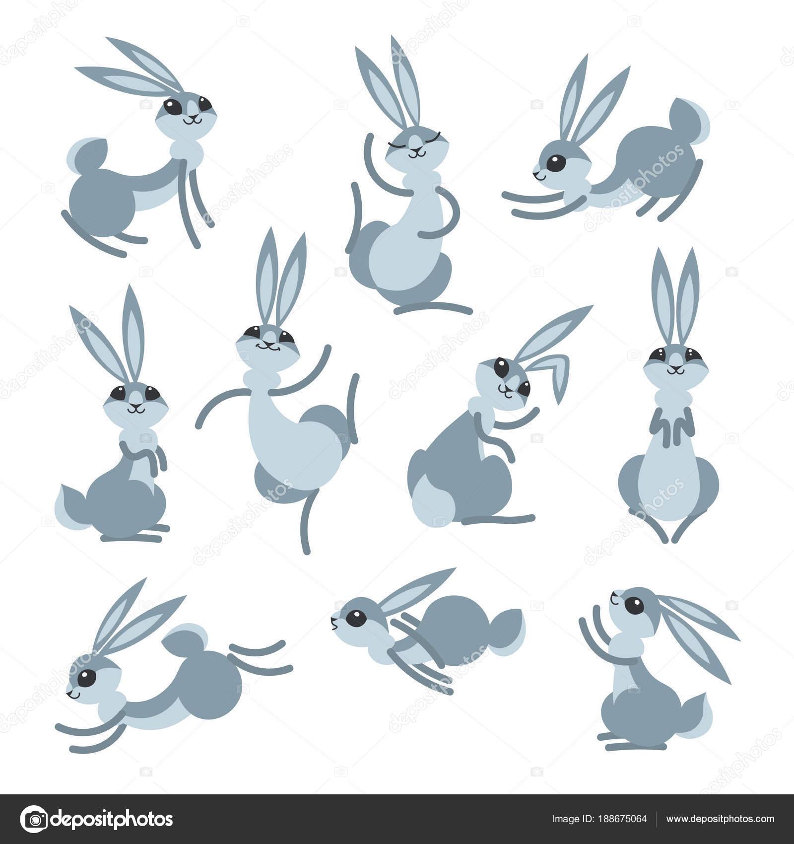 coelho bonito dos desenhos animados ou lebre coelhinhos de