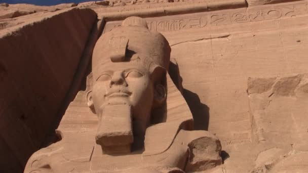 Abu Simbel - Kolos Ramesses Ii, nízký úhel výstřelu, na fasádě Velkého chrámu