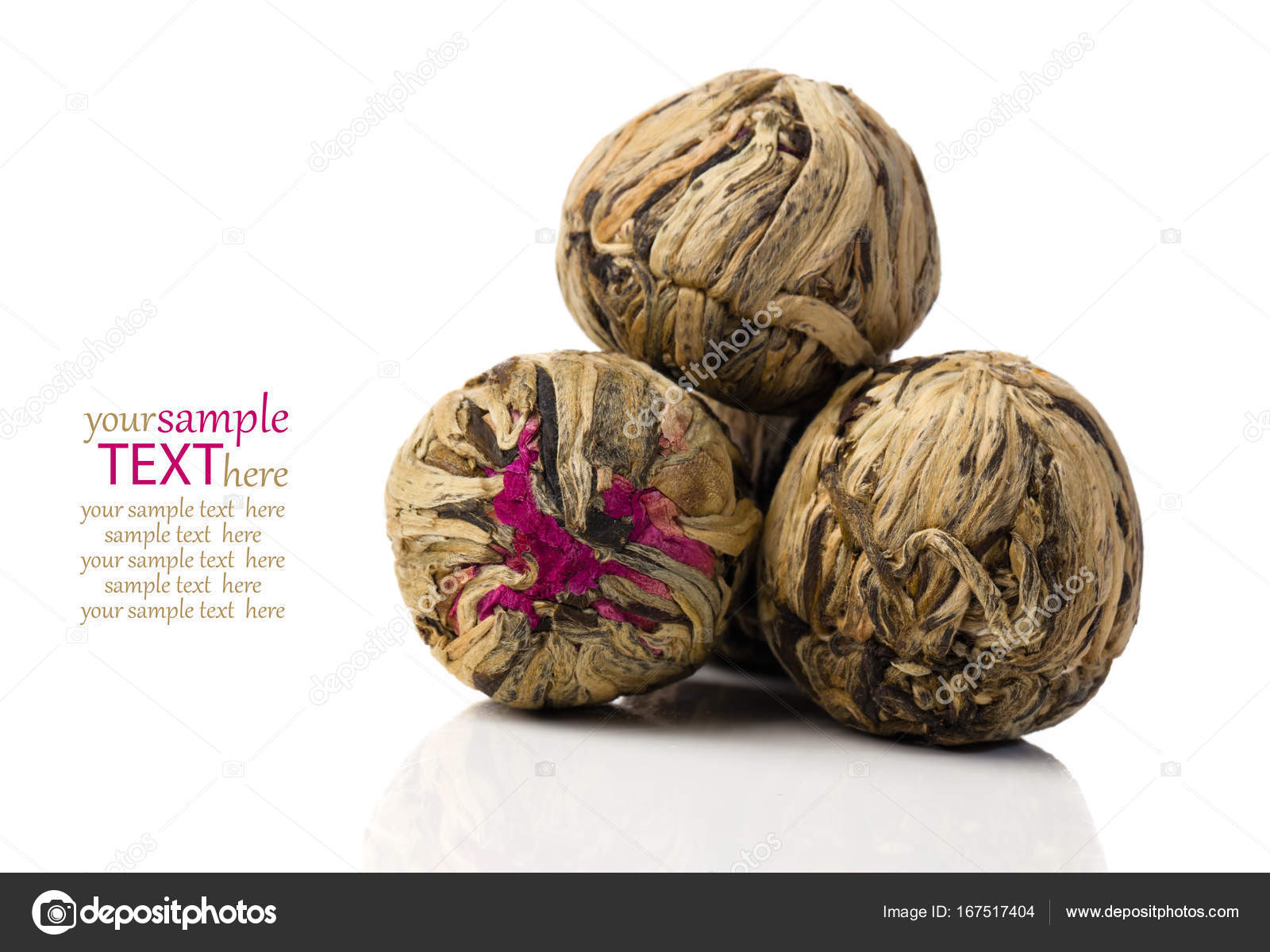 Aromatic Flower Green Chinese Tea On White Background Stock Photo