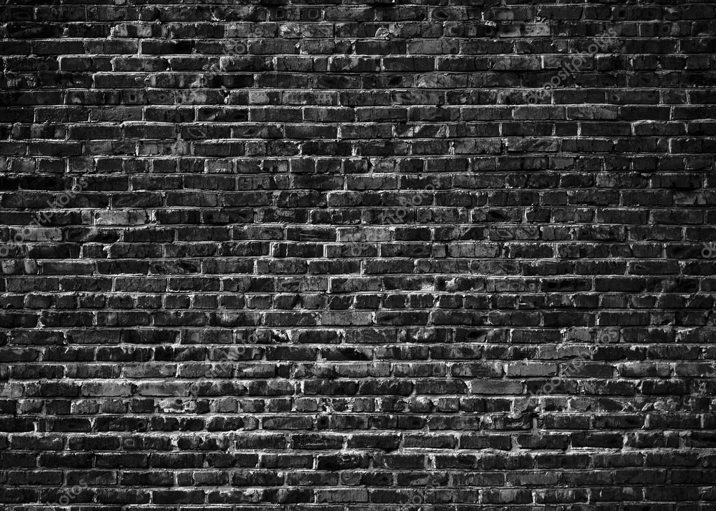 黒グランジ レンガ壁の背景 ストック写真 jolly photo 125454908