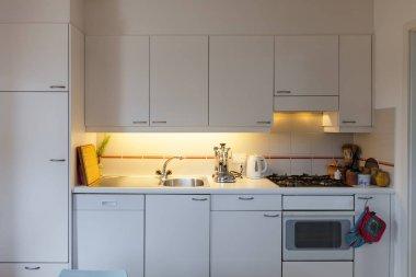 White domestic kitchen