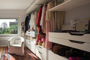 wardrobe of a bedroom