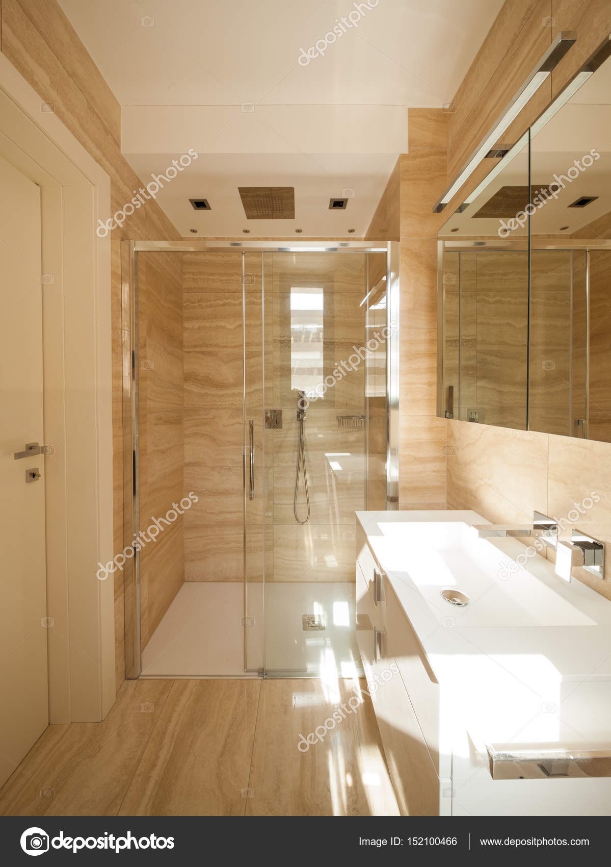 Beige Marble Bathroom, Nobody Inside U2014 Photo By Zveiger