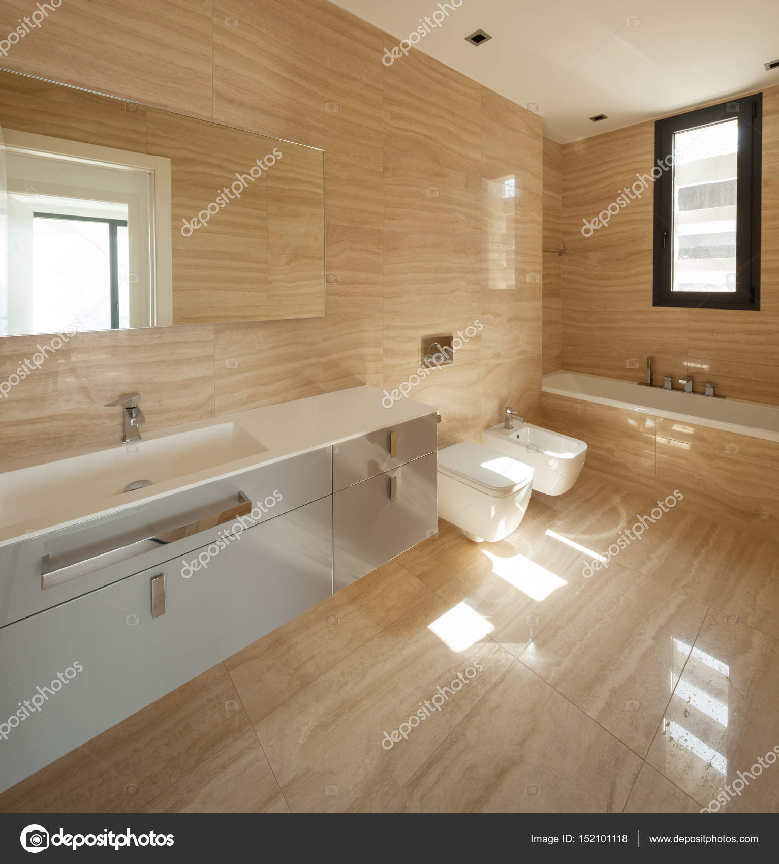 Bellissimo bagno in marmo — Foto Stock © Zveiger #152101118