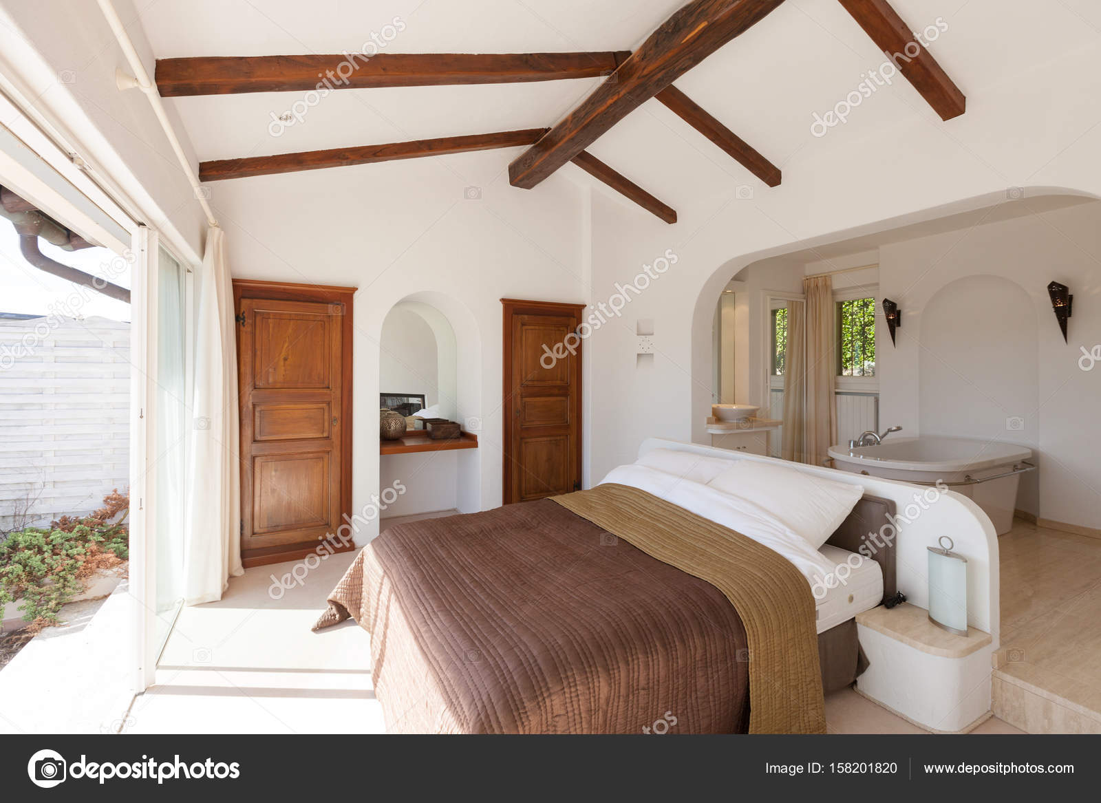 Vasca Da Bagno In Camera Da Letto : Il bagno open space in camera da letto contemporaneo e luminoso