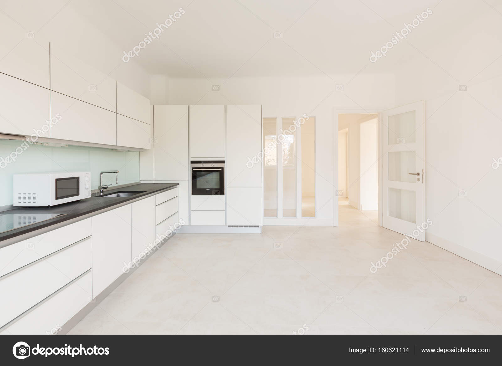 Interior Of Empty Kitchen Stock Photo