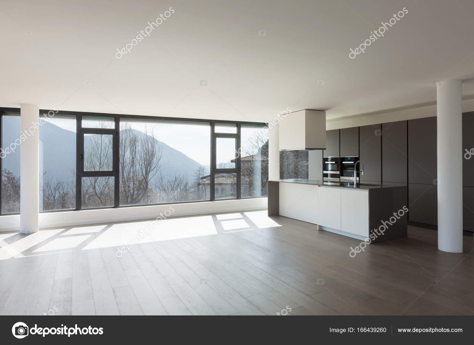 Cozinha Da Ilha Em Uma Ampla Sala Stock Photo Zveiger 166439260