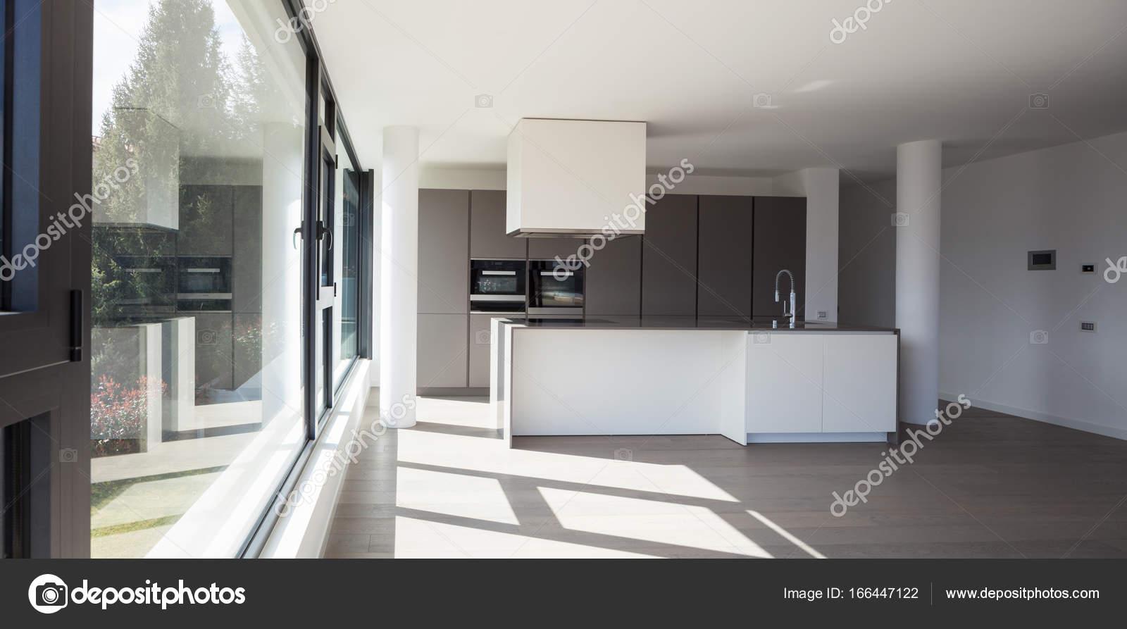 Cozinha Da Ilha Em Uma Ampla Sala Stock Photo Zveiger 166447122