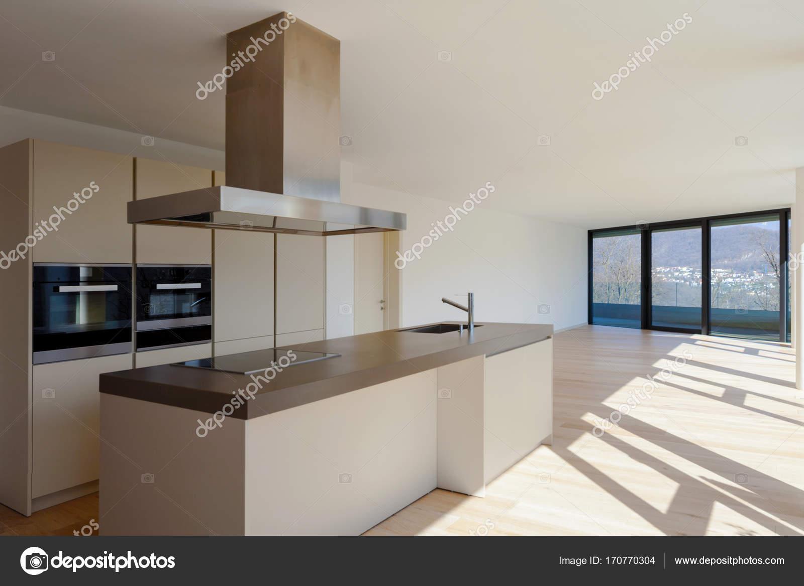 Interieur van een modern huis gewoon een kamer leeg u2014 stockfoto