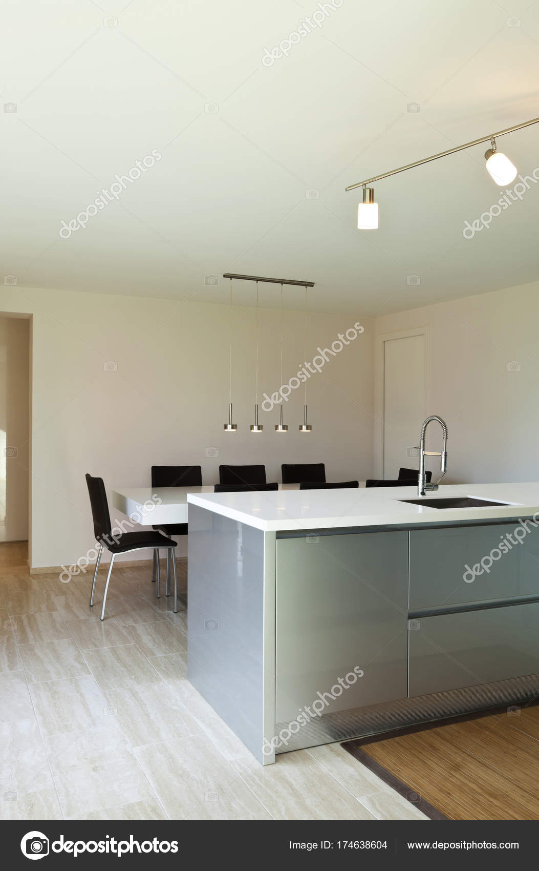 Beautiful modern house kitchen island photo by zveiger