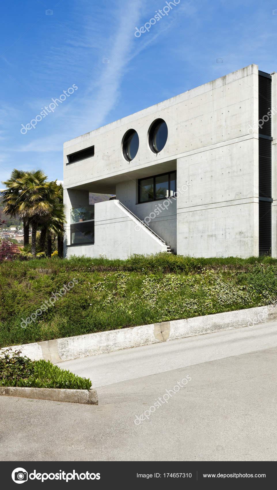 Schönes Modernes Haus Zement Outdoor Fassade — Stockfoto © Zveiger ...