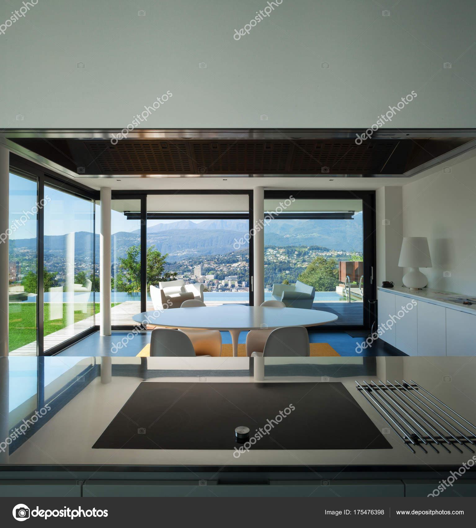 Modernes Haus, Wohn Esszimmer U2014 Stockfoto