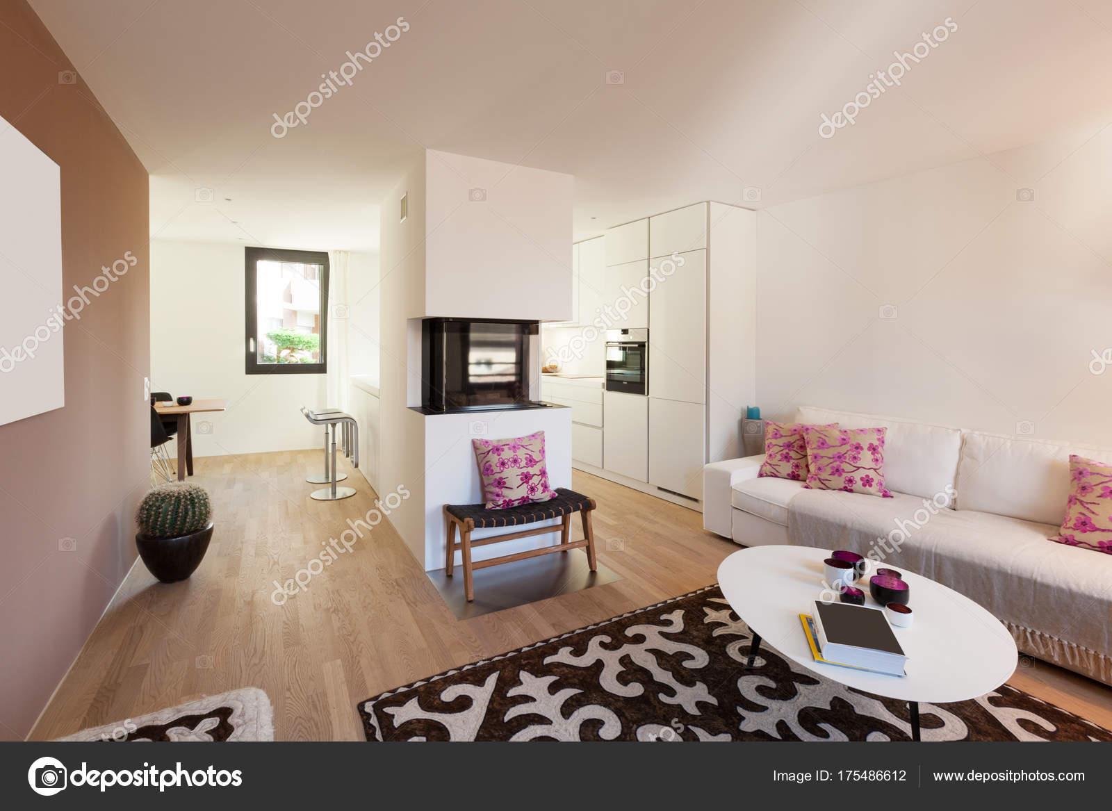 modernes appartement interieur, intérieur du moderne appartement meublé — photographie zveiger, Design ideen