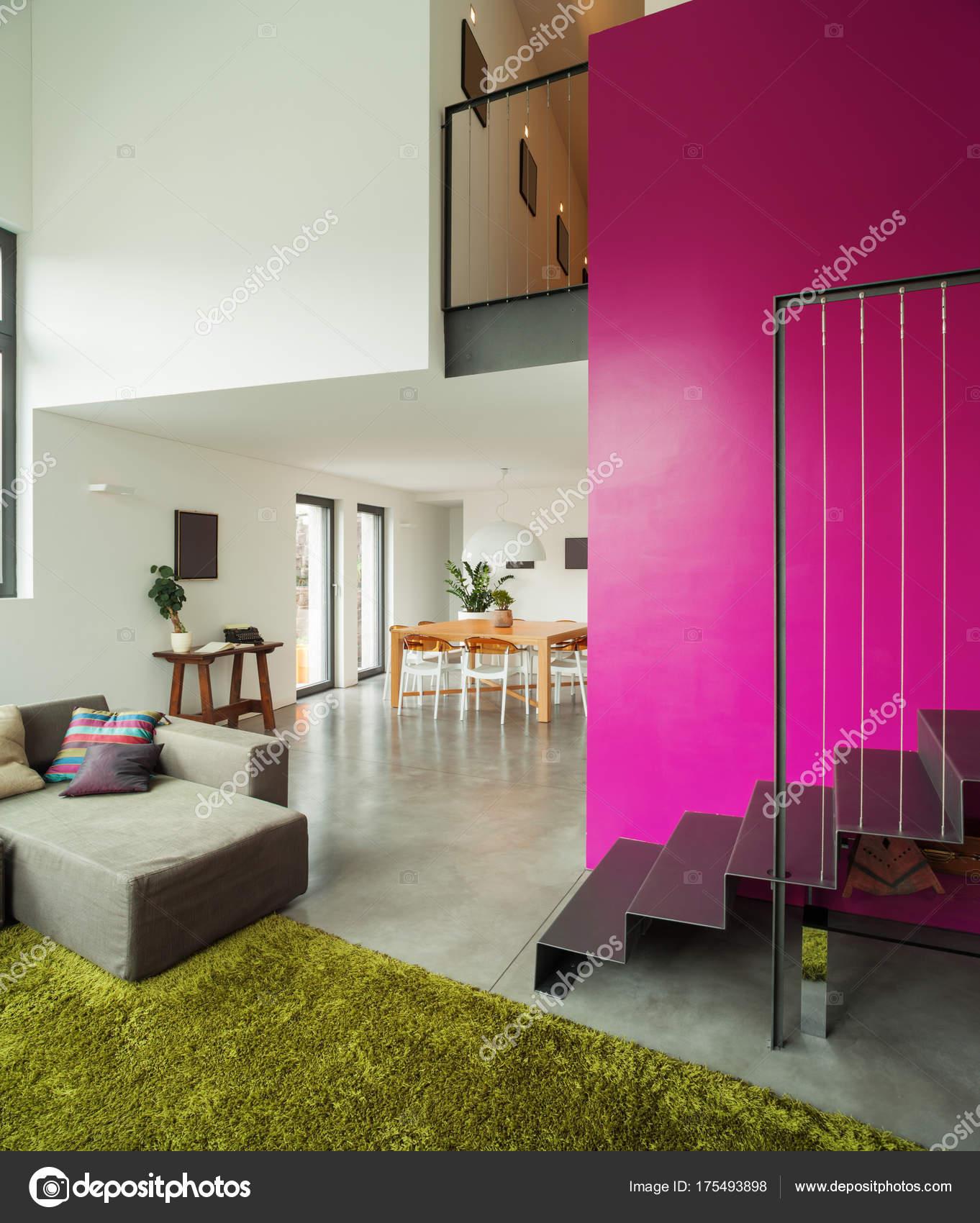 Innenraum Der Moderne Villa, Wohnzimmer U2014 Stockfoto
