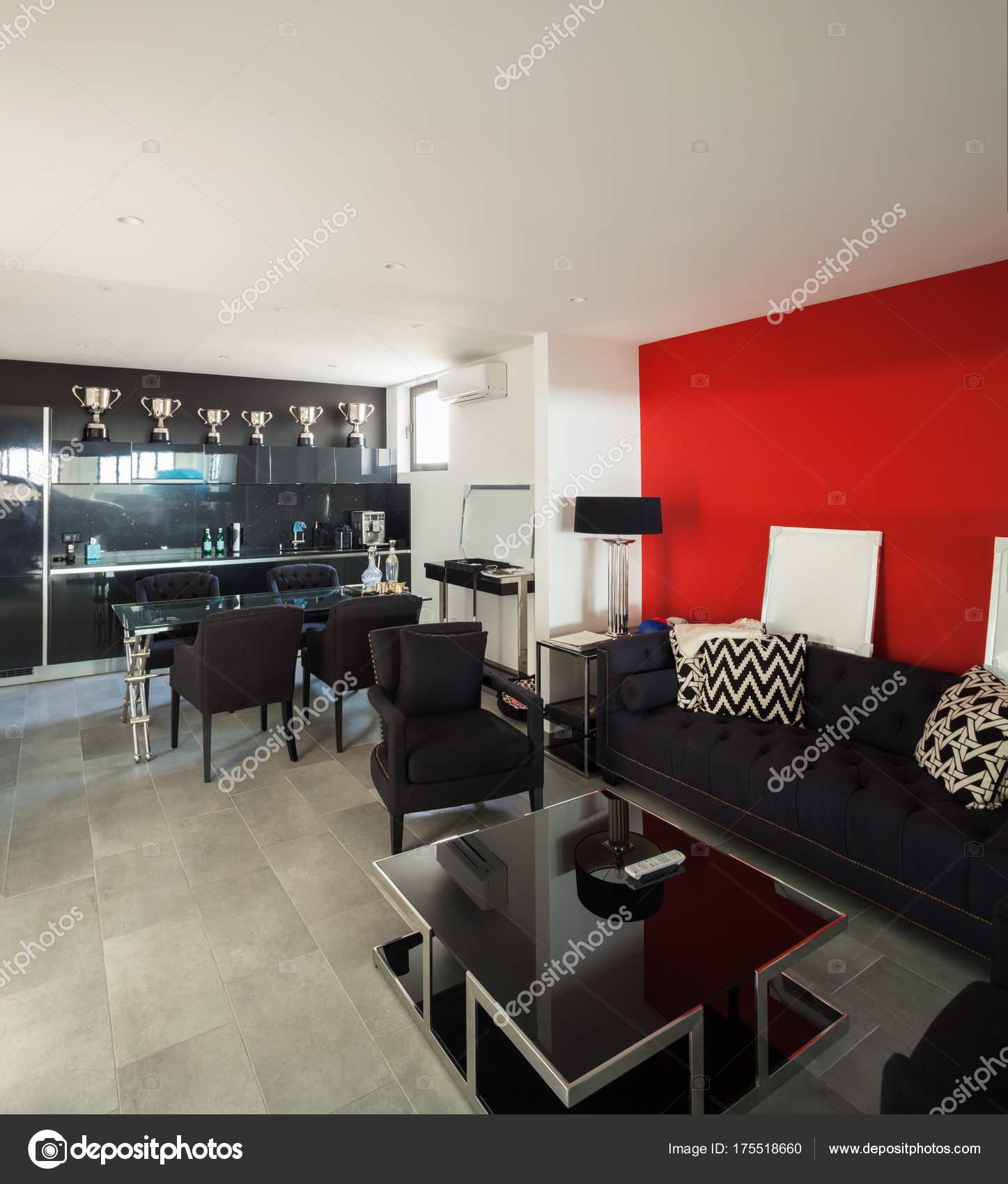 modernes Haus Innenraum, Wohnzimmer — Stockfoto © Zveiger #175518660