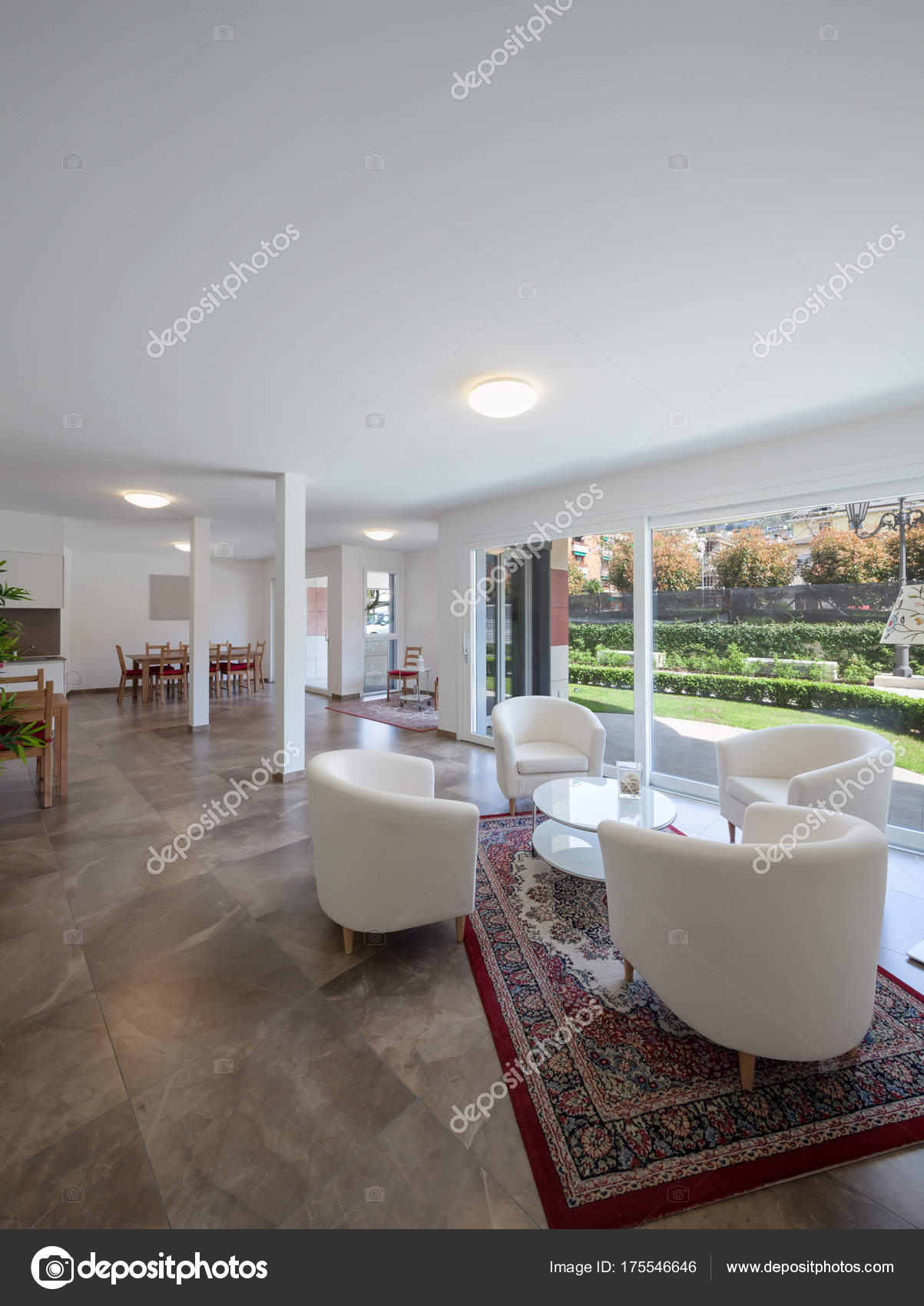 View of modern home interiors stock photo