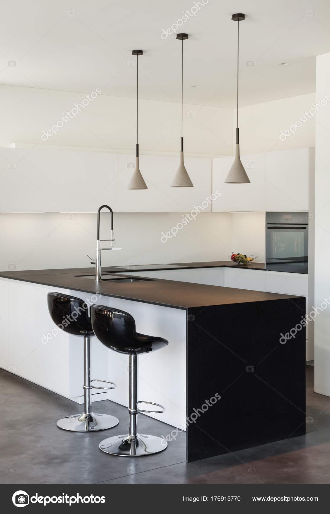 Interior Casa Moderna Cozinha Fotografias De Stock Zveiger