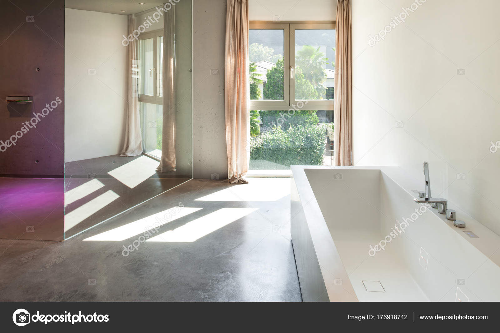 Salle De Bain Interieure Maison Moderne Photographie Zveiger