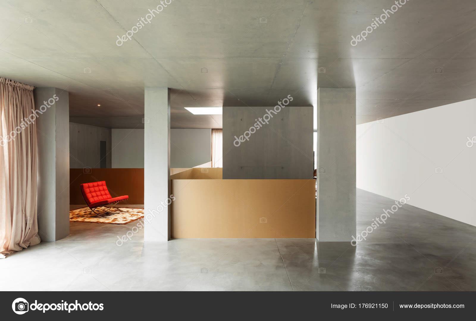 moderne woonkamer interieur huis betonnen wand foto van zveiger