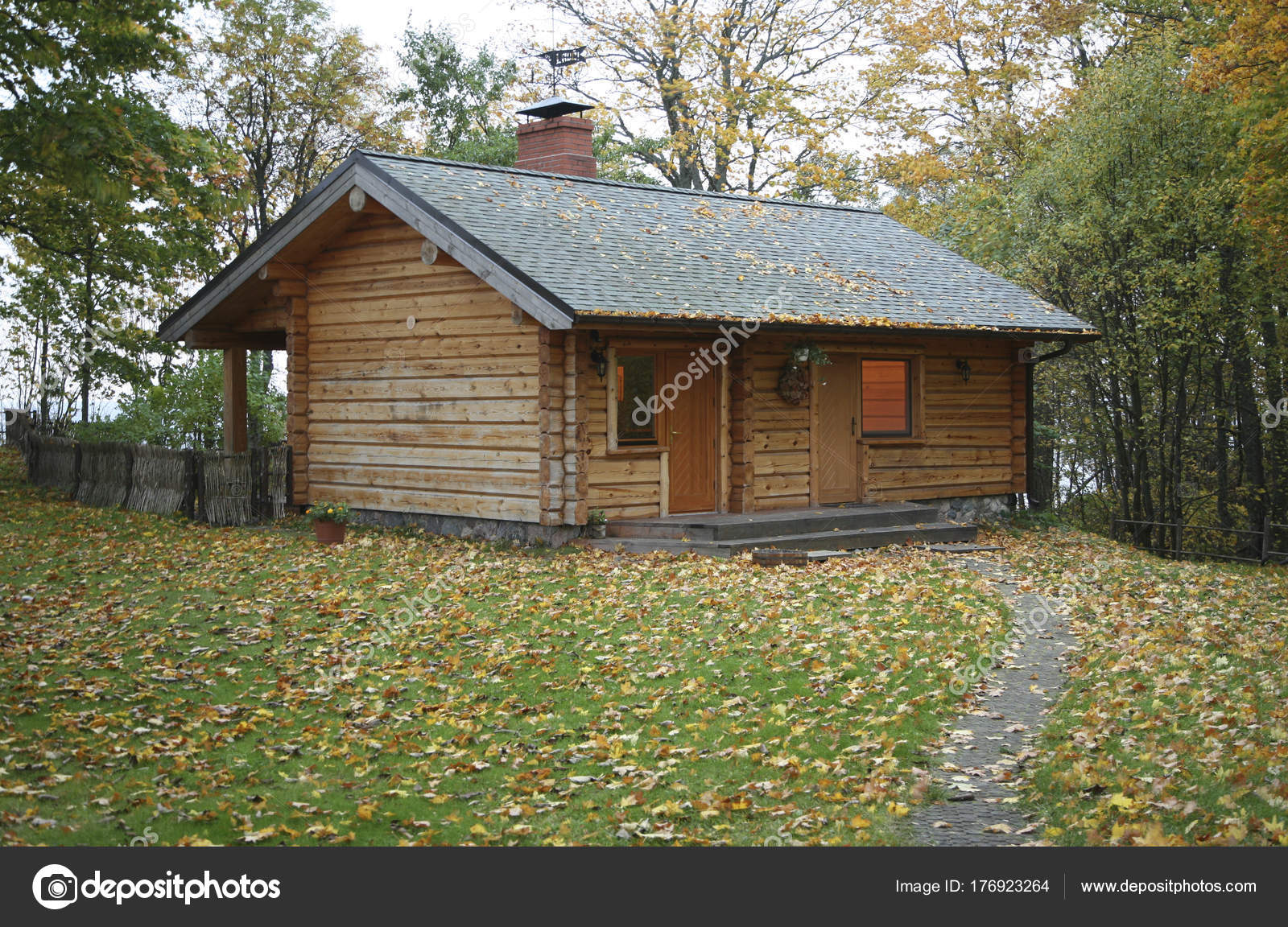 Small Wooden House Into The Wild Stock Photo C Zveiger 176923264
