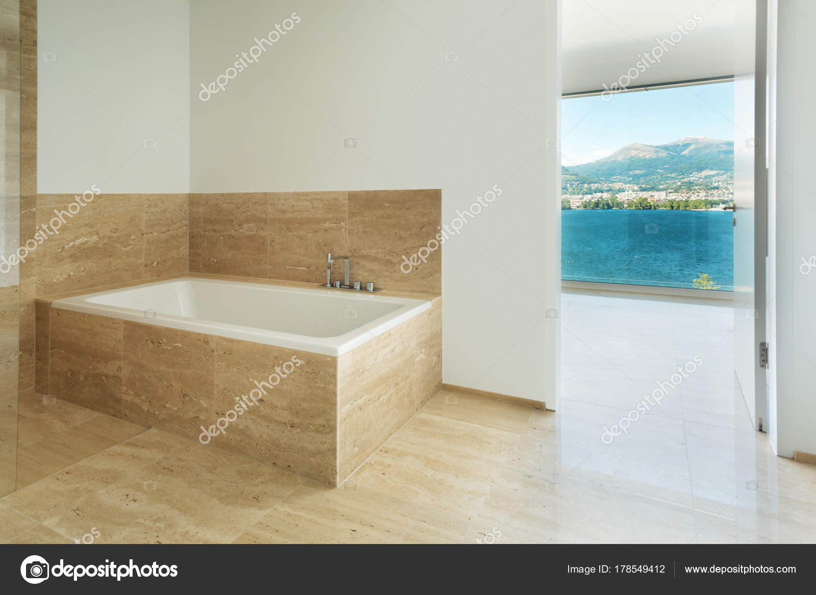Modelos de marmol travertino | Cuarto de baño, suelo de mármol ...