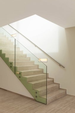 interior, marble stair