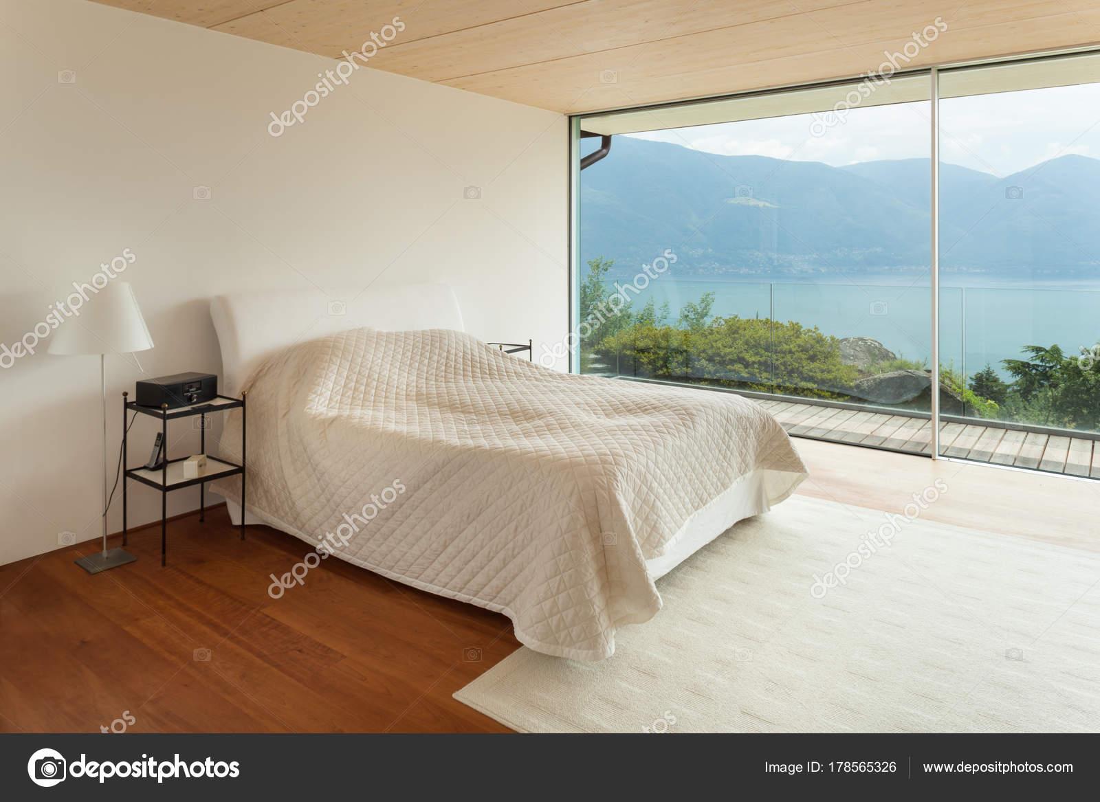 moderne Architektur, Innenarchitektur, Schlafzimmer — Stockfoto ...