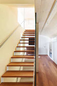 moderní architektura, interiér, schodiště