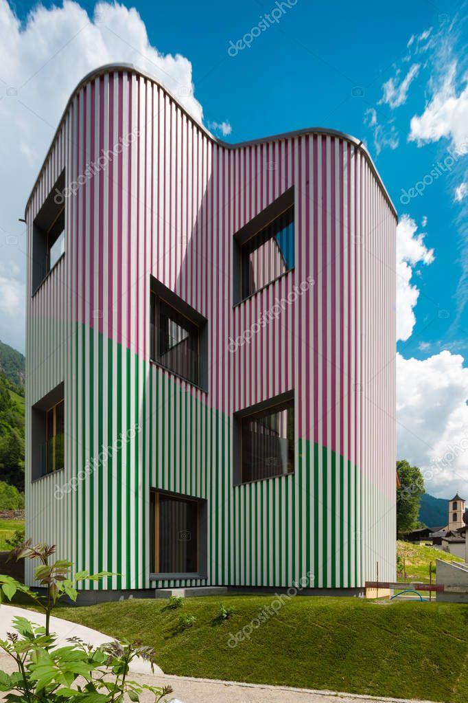 Modern design house, exterior view