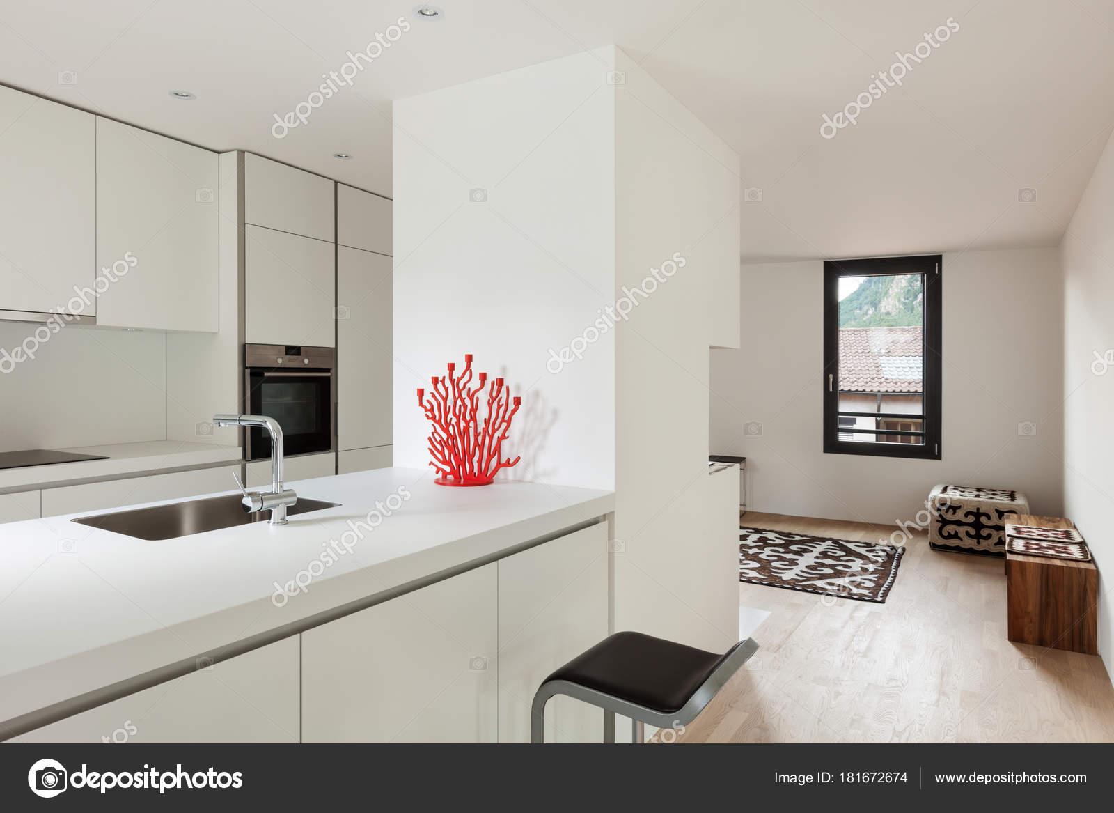 Architecture, intérieur de maison moderne — Photographie ...
