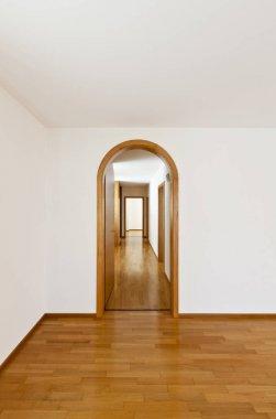 Interior of villa, empty ambient