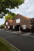 Exterior of wooden terraced houses in Copenhagen