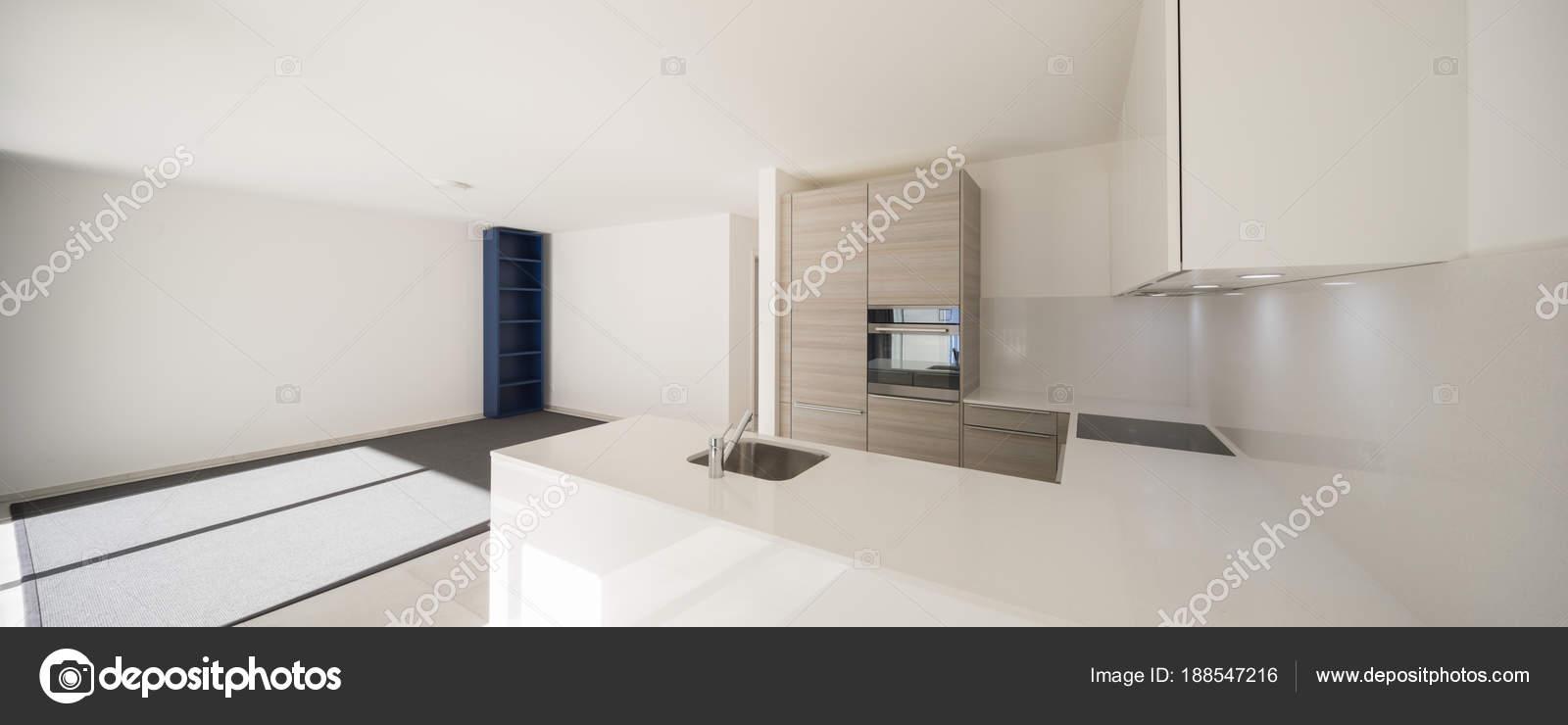 Moderno Espa O Aberto Com Sala De Estar E Cozinha Fotografias De