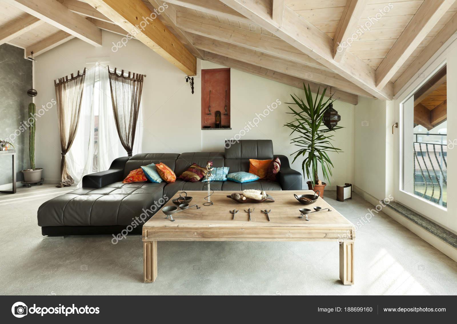 Innen Neue Loft Ethnische Mobel Wohnzimmer Stockfoto C Zveiger