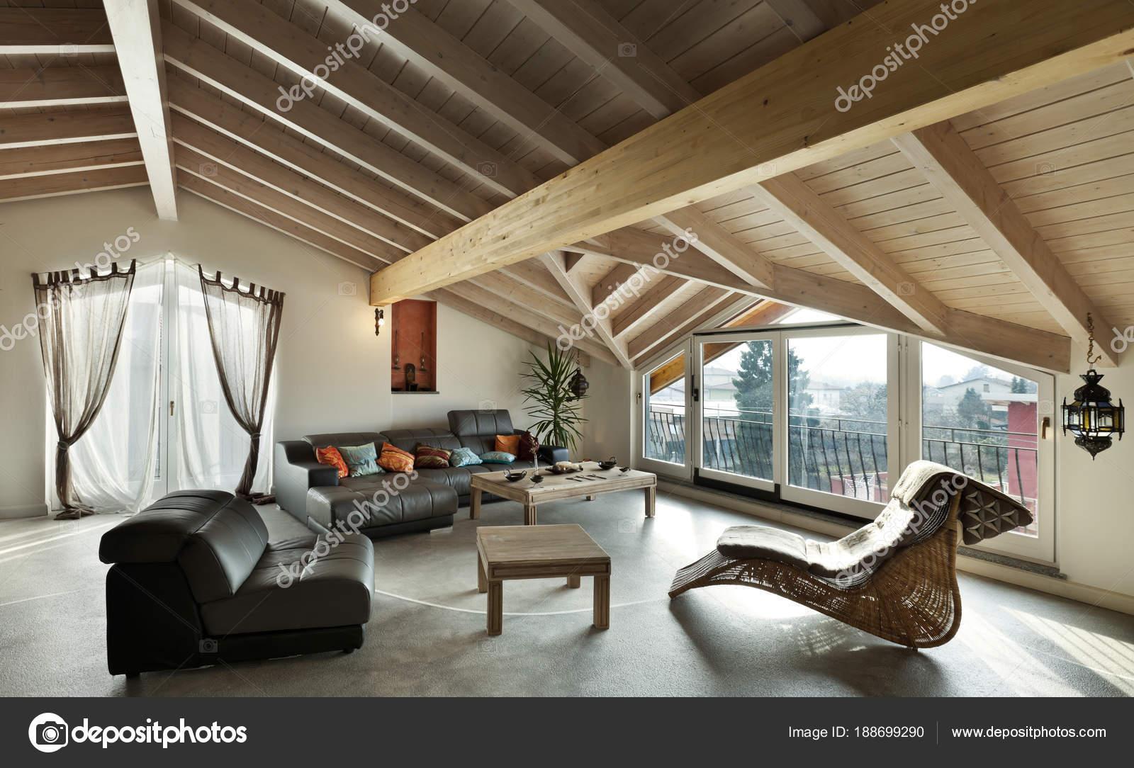 Interior New Loft, Ethnic Furniture, Living Room U2014 Stock Photo