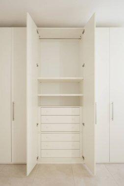 Open wardrobe in a modern house