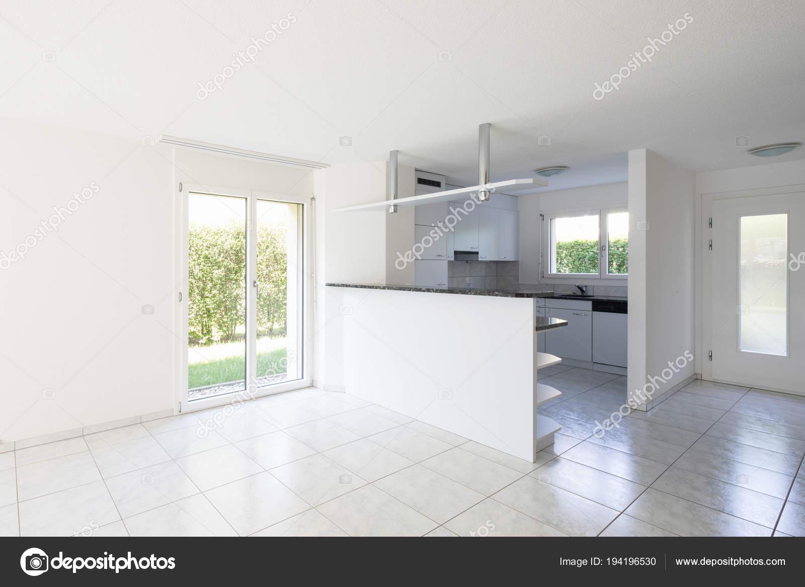 Keuken Grote Open : Open ruimte met grote woonkamer en keuken u2014 stockfoto © zveiger